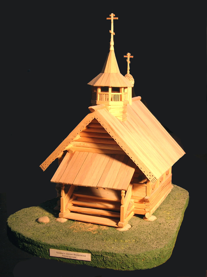 Церковь из дерева своими руками